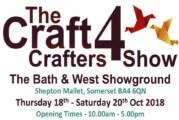 The Craft Crafters 4 Show – Thursday 18th – Saturday 20th Oct 2018